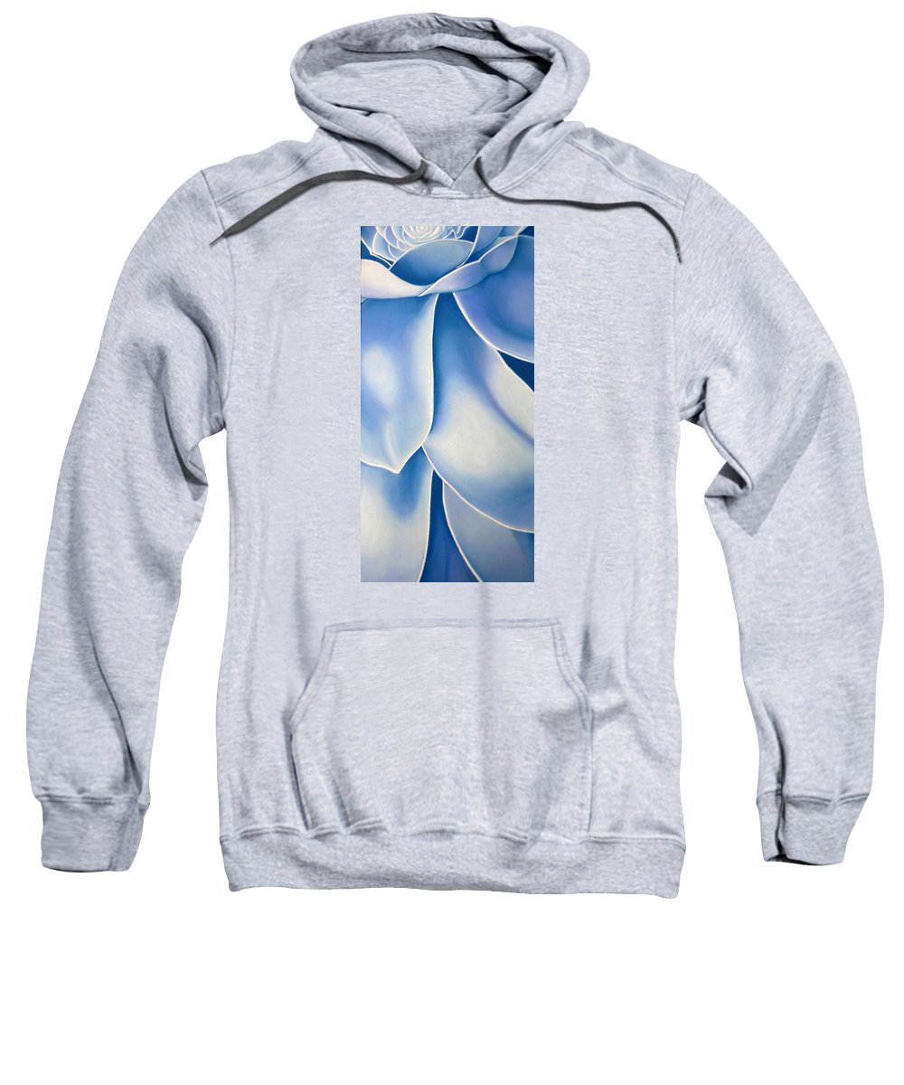 Flowers Sweatshirt featuring the drawing Blue Flower by Joshua Morton
