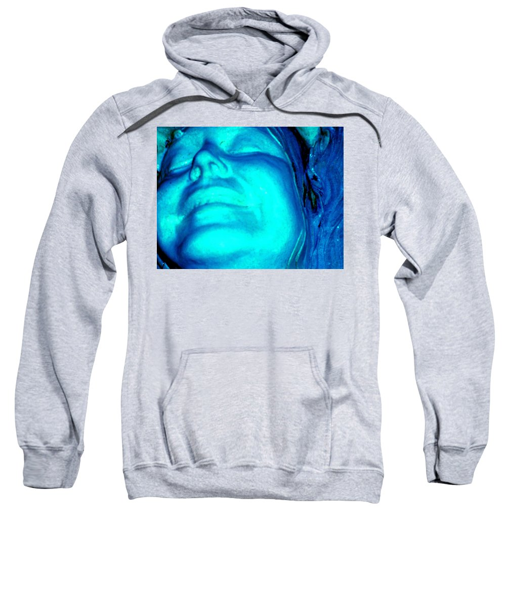 Blue Sweatshirt featuring the photograph Blue Goddess by Wayne Potrafka