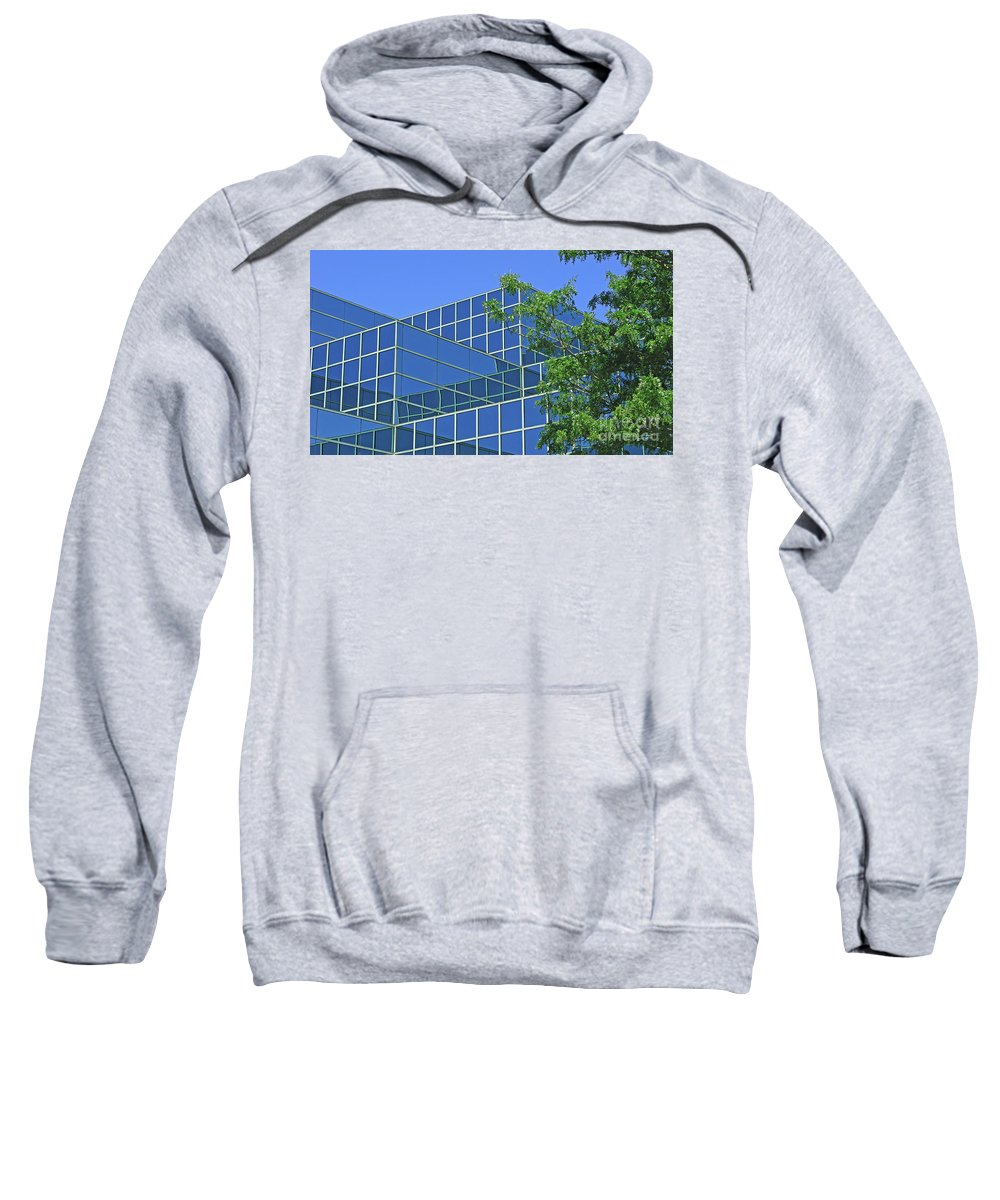 Abstract Sweatshirt featuring the photograph Blue Green Harmony by Ann Horn