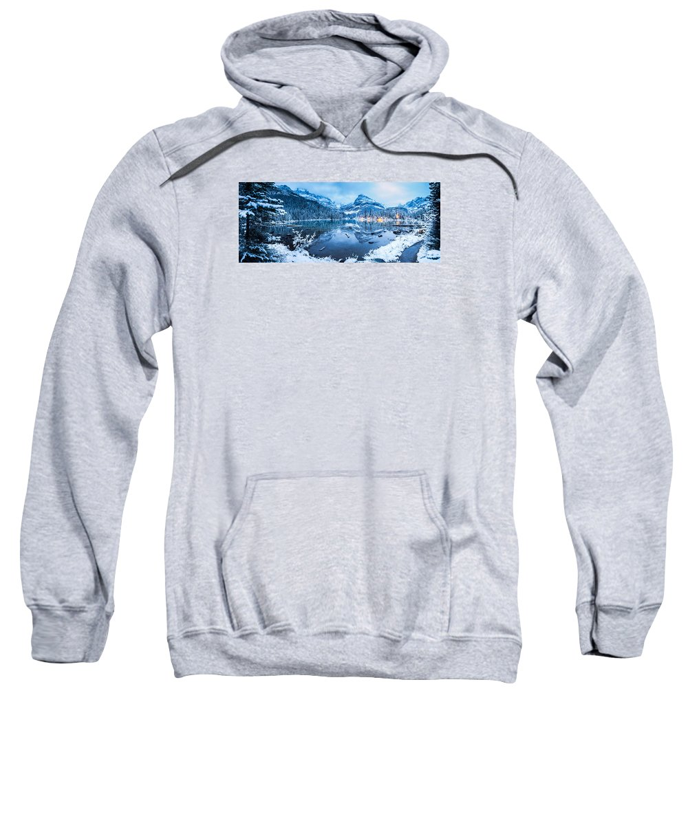 Sweatshirt featuring the photograph Blue Hour At Lake O'hara by J and j Imagery