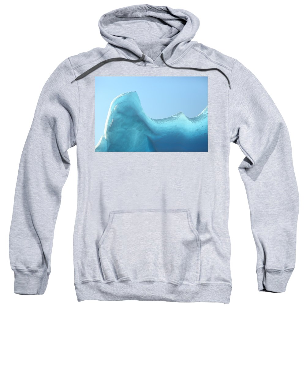Ice Sweatshirt featuring the photograph Blue Ice by Bruce J Robinson