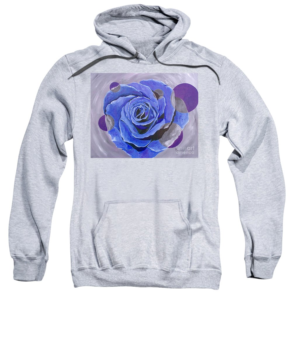 Acrylic Sweatshirt featuring the painting Blue Ice by Herschel Fall