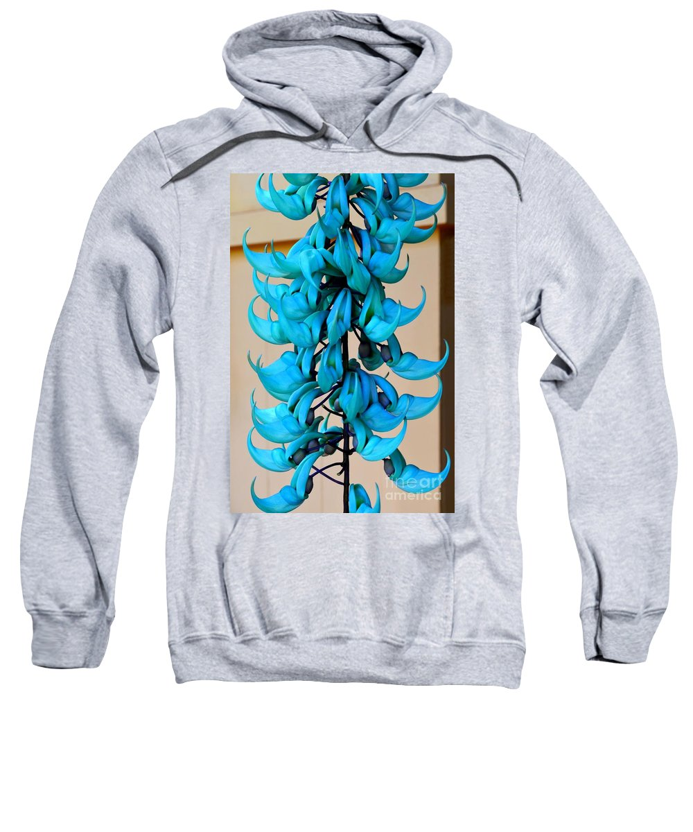 Jade Sweatshirt featuring the photograph Blue Jade Strand by Mary Deal