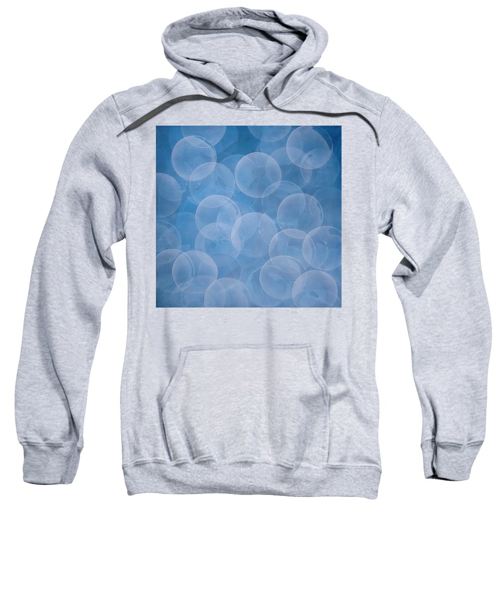 Abstract Sweatshirt featuring the painting Blue by Jitka Anlaufova