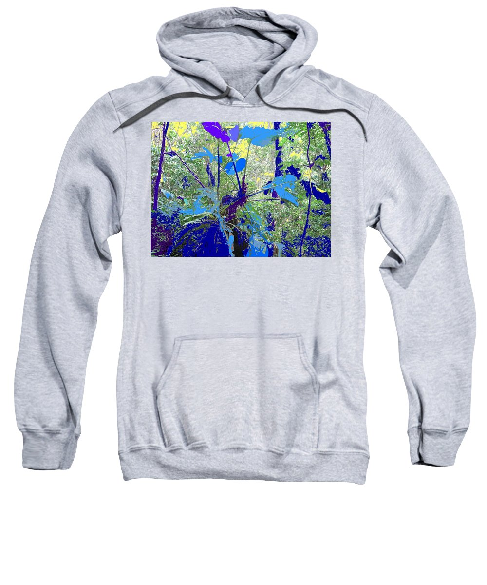 Sweatshirt featuring the photograph Blue Jungle by Ian MacDonald