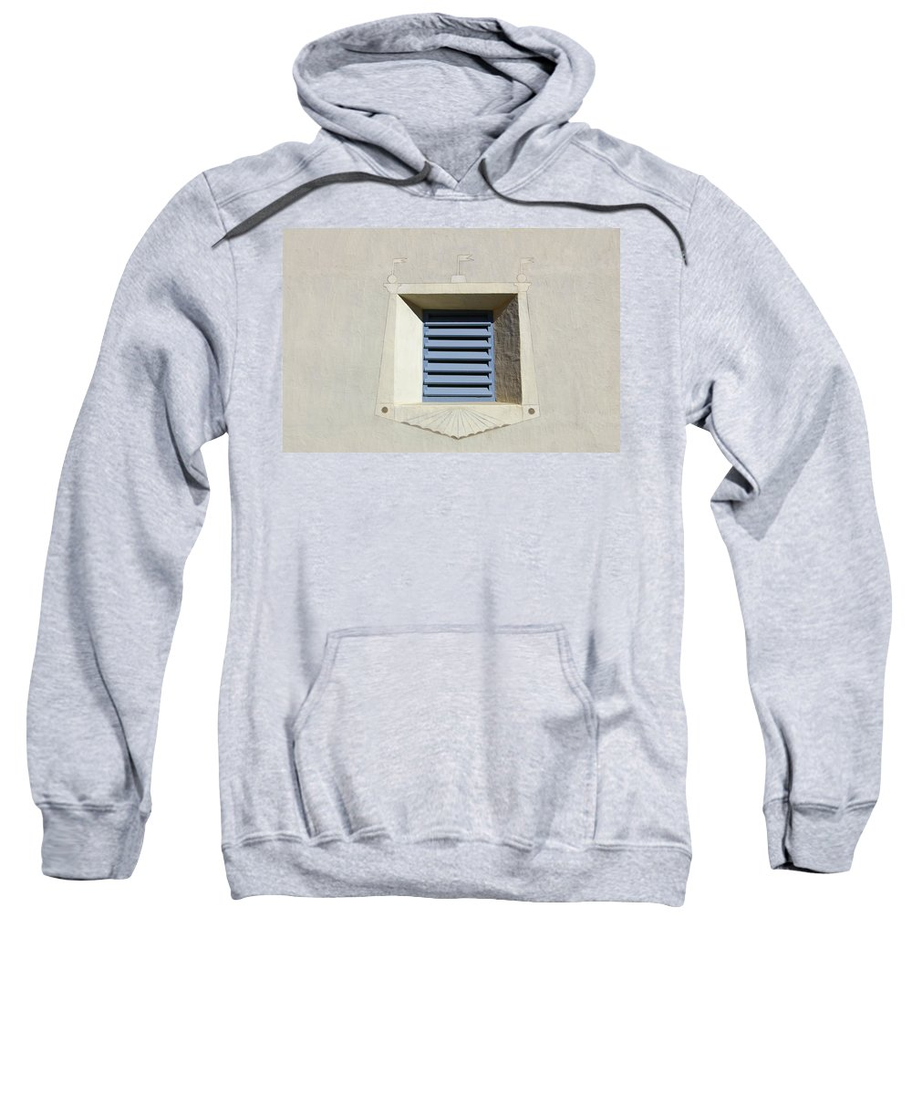 Blue Sweatshirt featuring the photograph Blue Louvers 2 by Tom Reynen