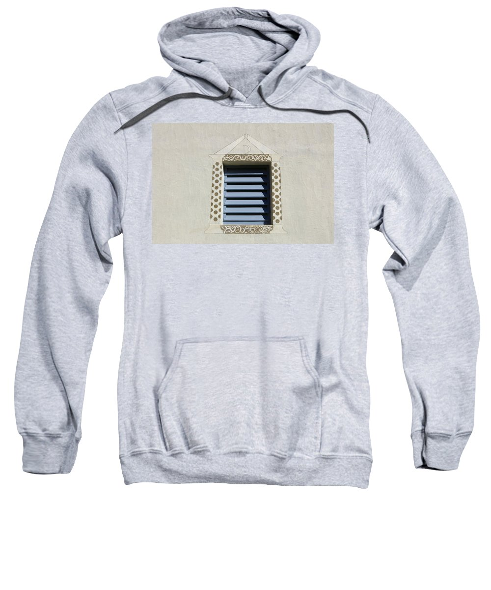 Blue Sweatshirt featuring the photograph Blue Louvers by Tom Reynen