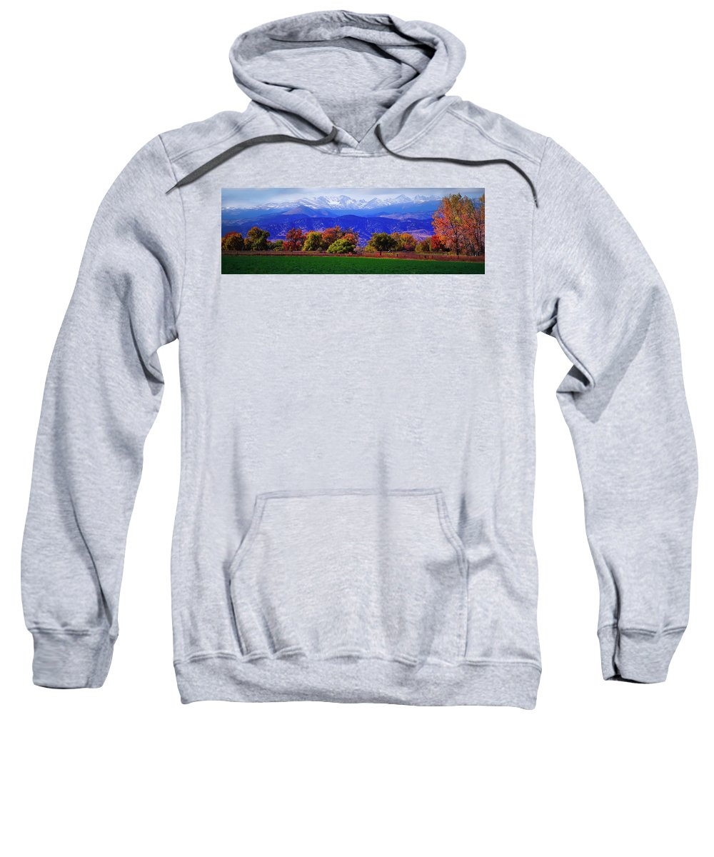 Mountains Sweatshirt featuring the photograph Blue Mountains by Karl Unertl