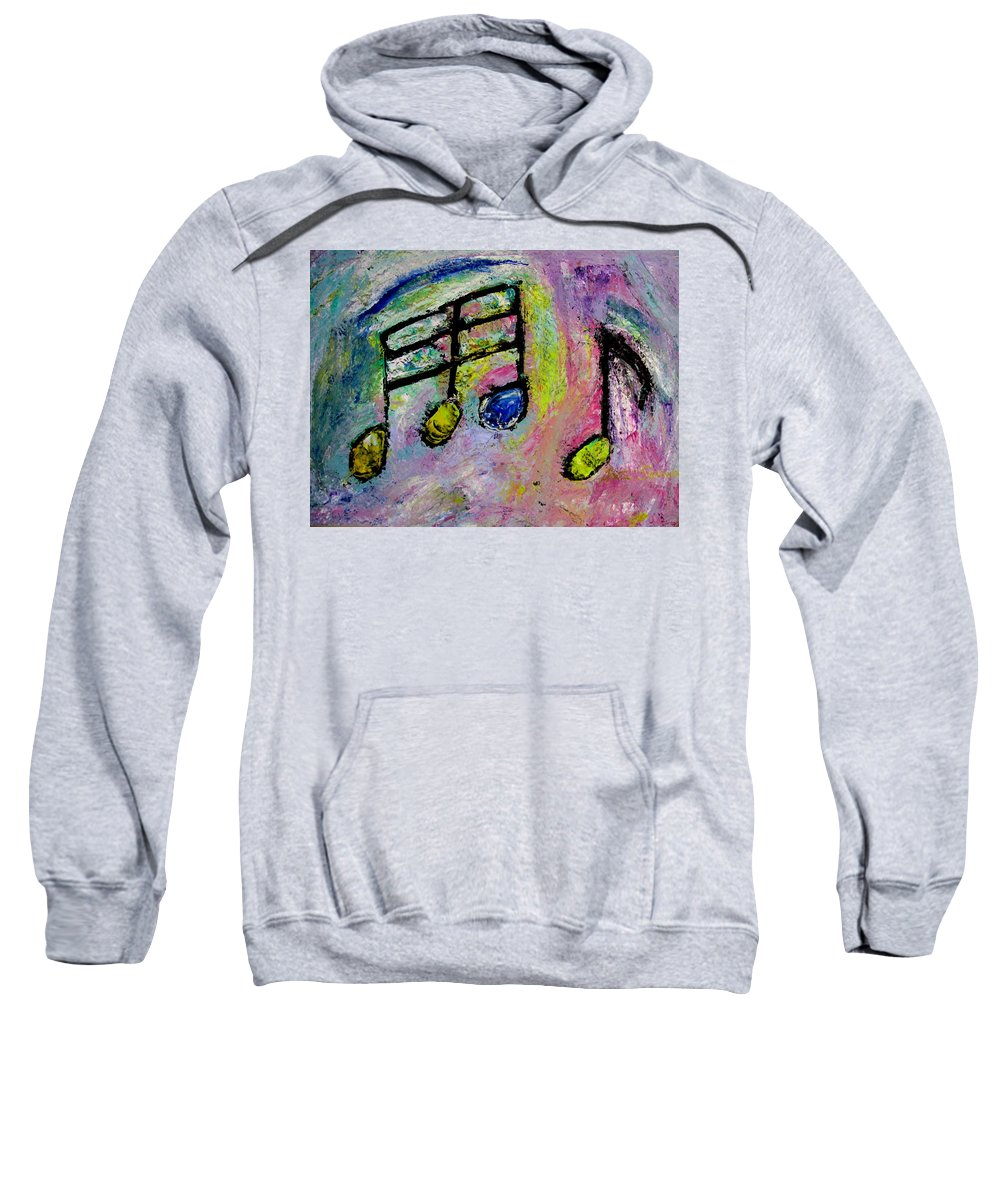 Impressionist Sweatshirt featuring the painting Blue Note by Anita Burgermeister