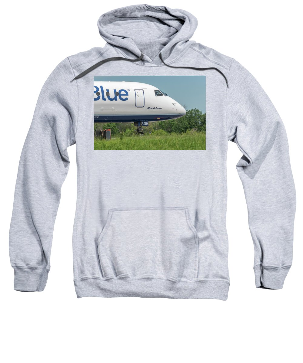 Aviation Sweatshirt featuring the photograph Blue Orleans by Guy Whiteley