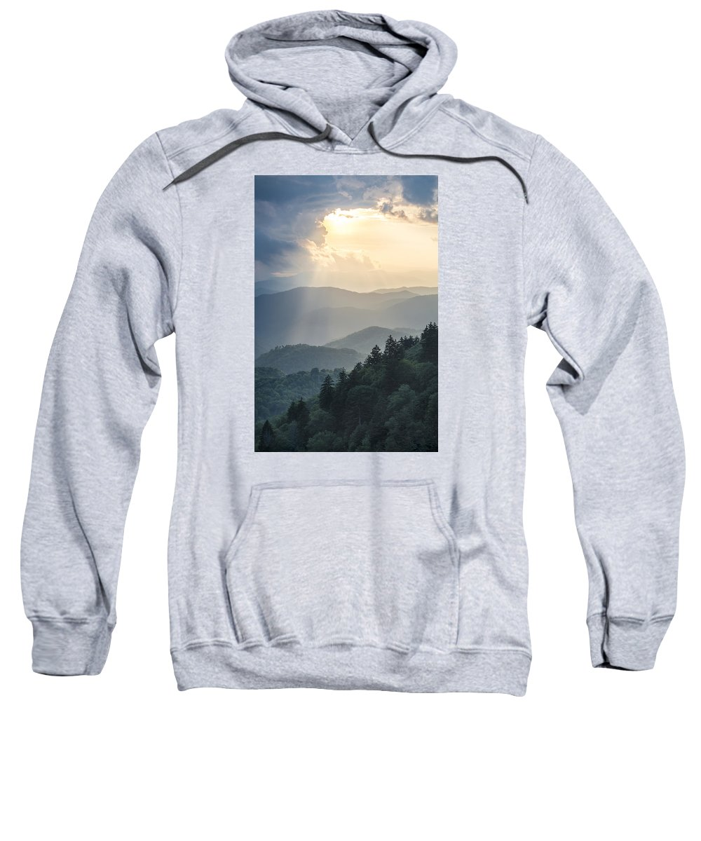 Light Sweatshirt featuring the photograph Blue Ridge Parkway Nc From Above by Robert Stephens