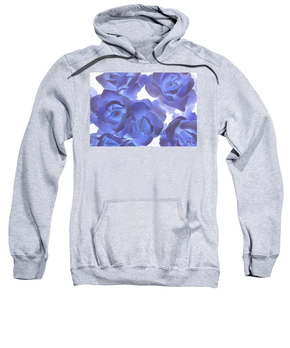Blue Sweatshirt featuring the photograph Blue Roses by Tom Reynen
