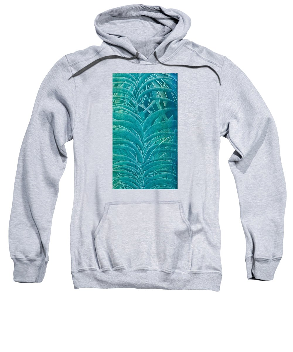 Sago Sweatshirt featuring the painting Blue Sago by Brad Mullins