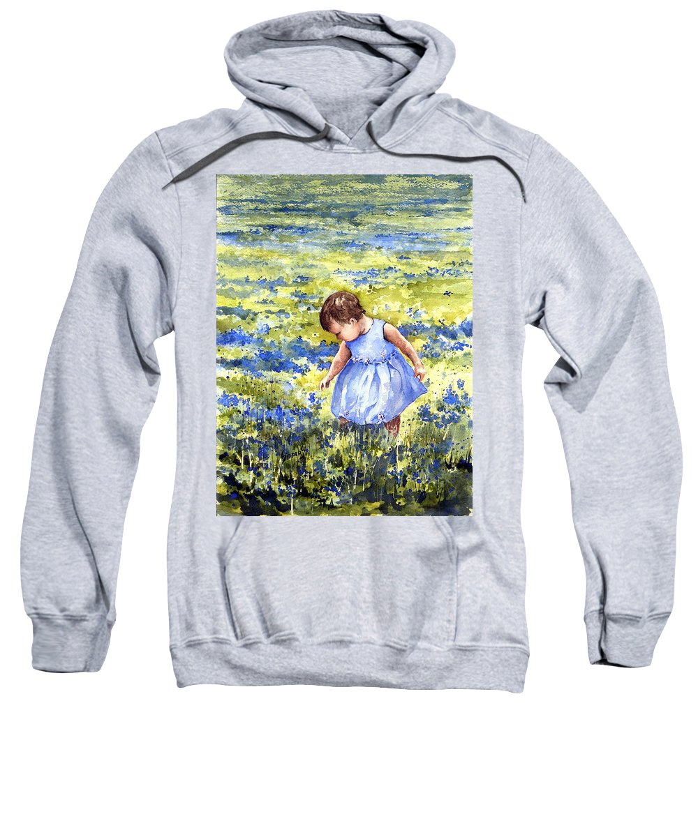 Blue Sweatshirt featuring the painting Blue by Sam Sidders