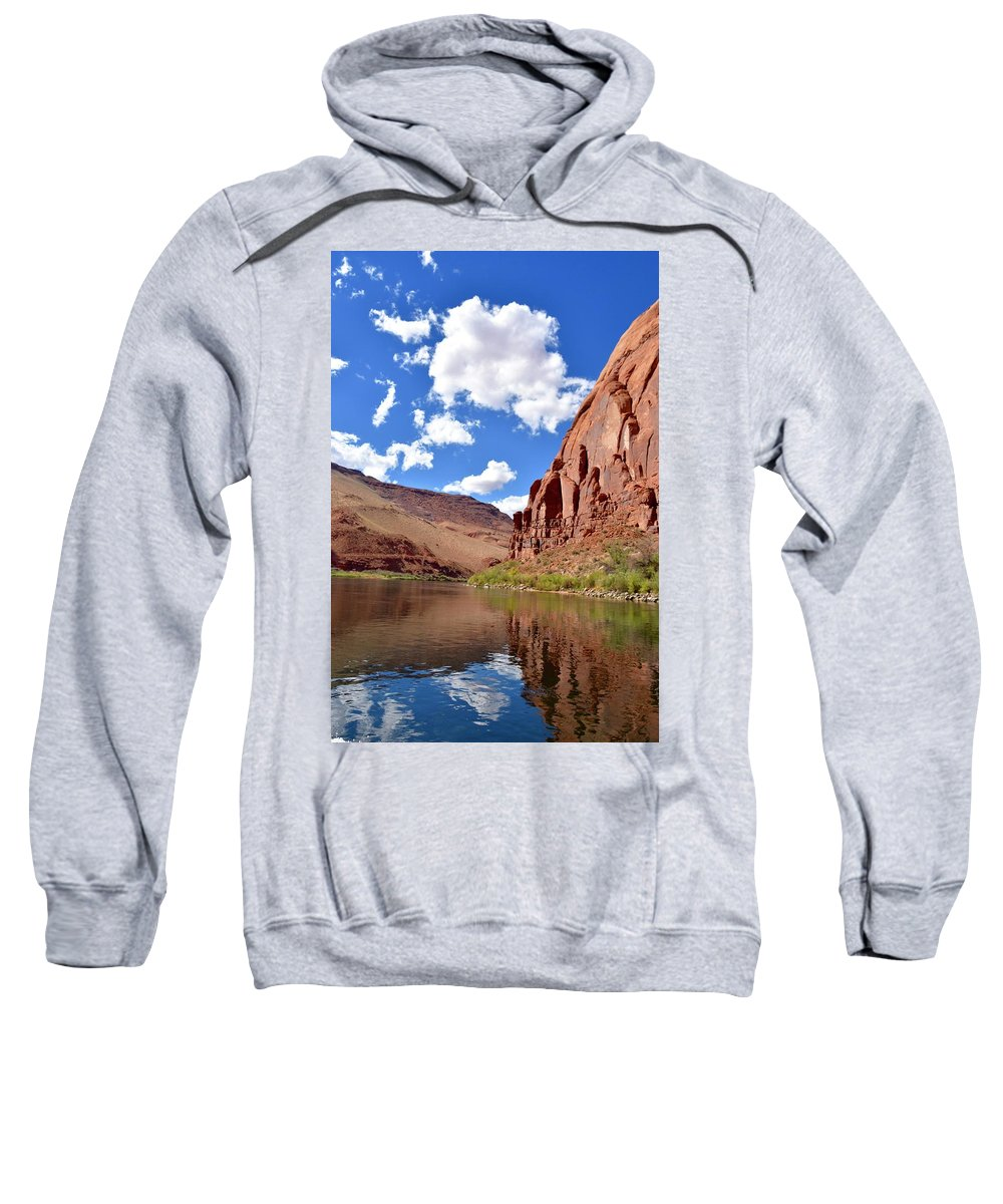 Colorado River Sweatshirt featuring the photograph Blue Sky Canyon by Barbara Stellwagen