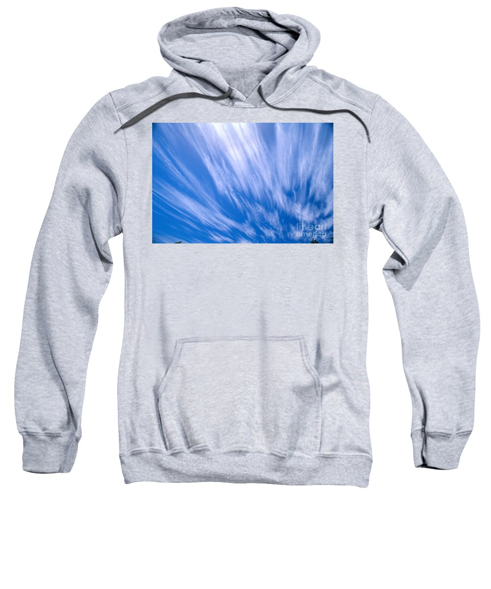Active Sweatshirt featuring the photograph Blue Sky by Peter French - Printscapes