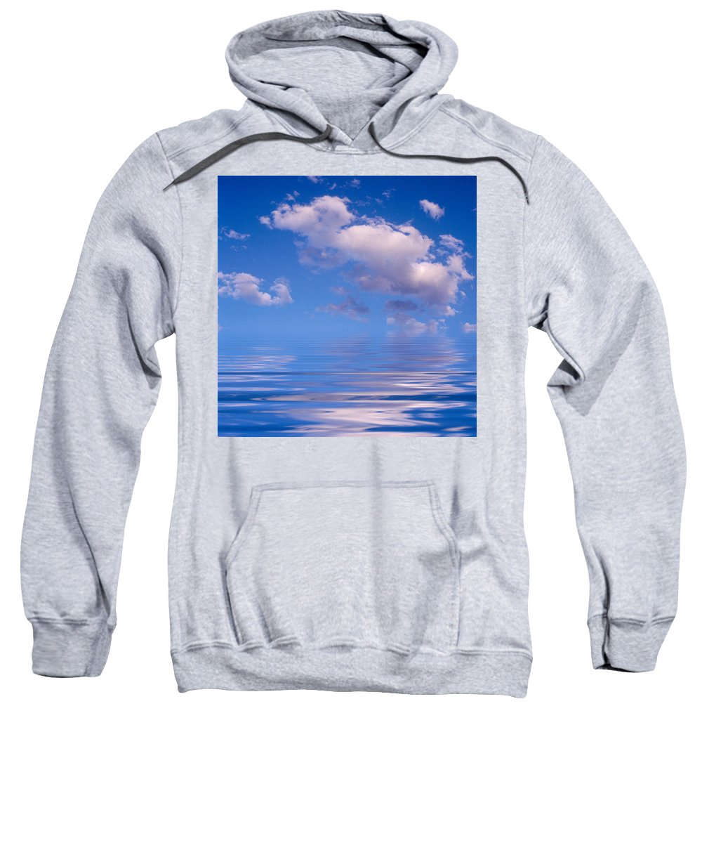 Original Art Sweatshirt featuring the photograph Blue Sky Reflections by Jerry McElroy