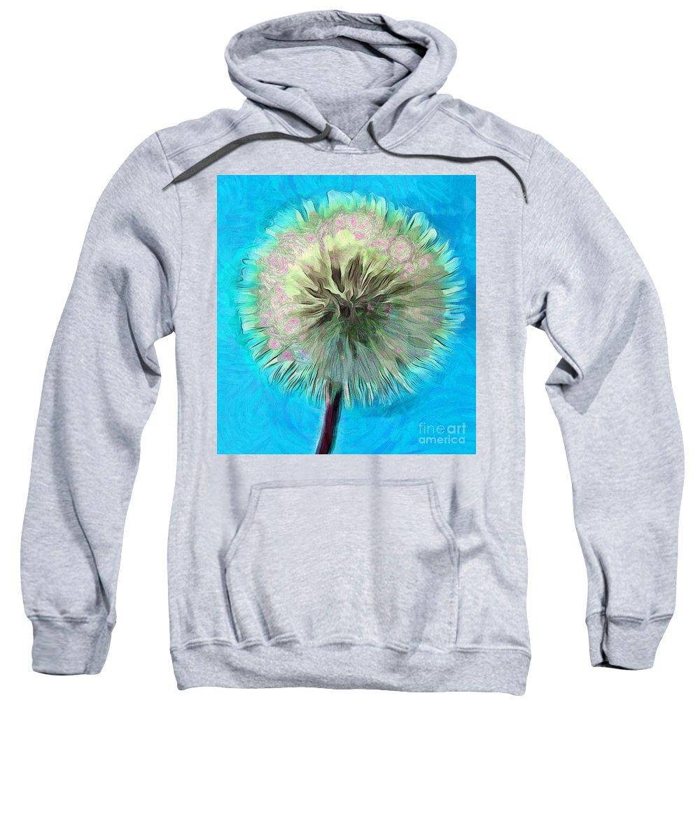 Dandelion Sweatshirt featuring the photograph Blue Spirit by Krissy Katsimbras