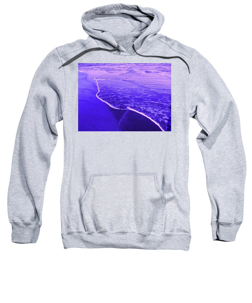 Abstract Sweatshirt featuring the digital art Blue Wash by Ian MacDonald