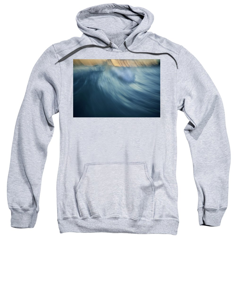 Abstract Sweatshirt featuring the photograph Blue Wave by Andre Donawa
