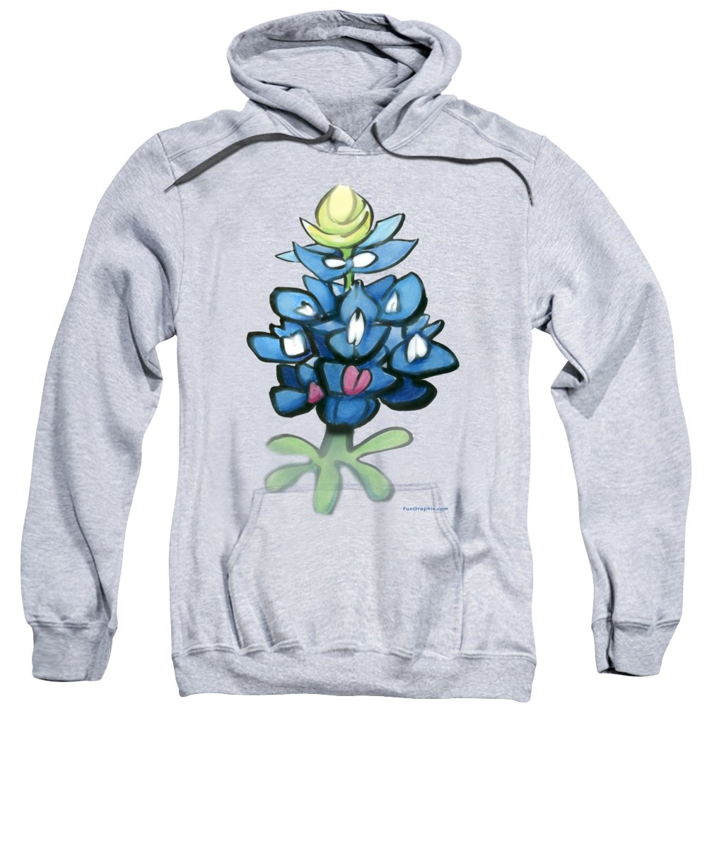 Bluebonnet Sweatshirt featuring the digital art Bluebonnet by Kevin Middleton