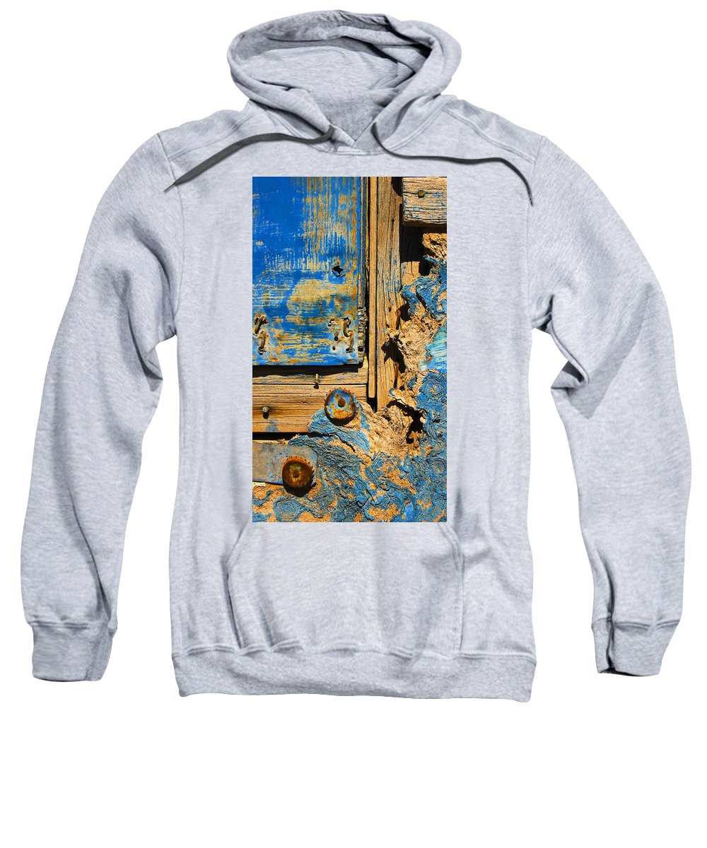 Abstract Sweatshirt featuring the photograph Blues Dues by Skip Hunt