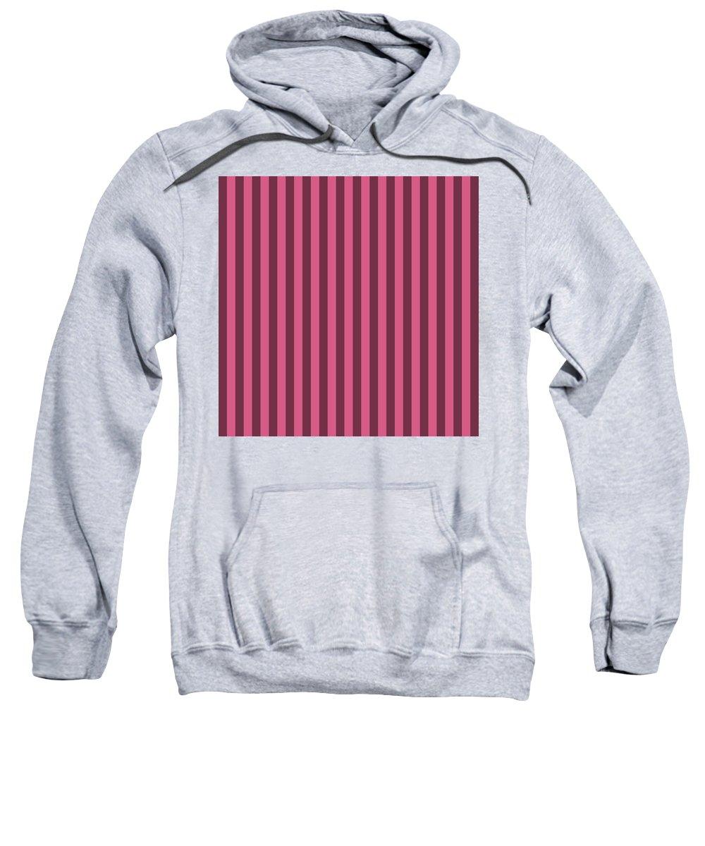 Blush Sweatshirt featuring the digital art Blush Pink Striped Pattern Design by Ross