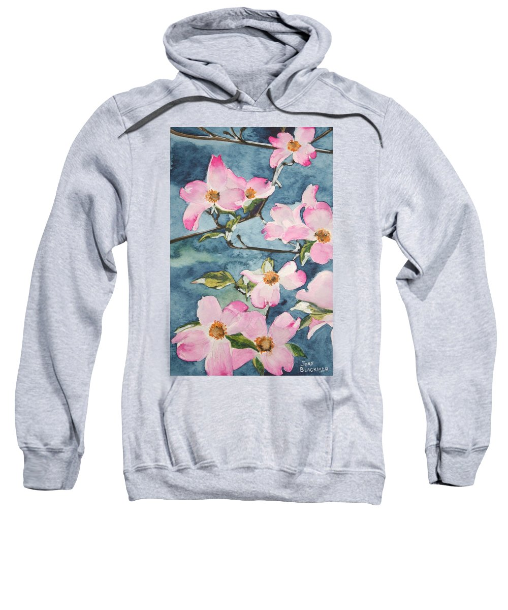 Flowers Sweatshirt featuring the painting Blushing Prettily by Jean Blackmer