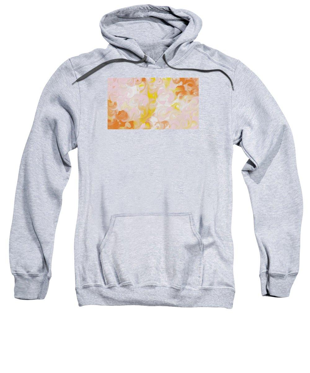 Sweatshirt featuring the digital art Blushy by Katey Love