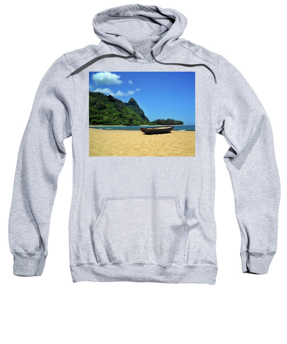 Boat Sweatshirt featuring the photograph Boat And Bali Hai by James Eddy