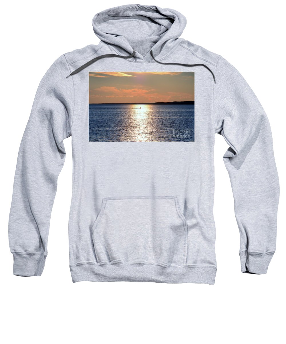 Boat Sweatshirt featuring the photograph Boat Passing By by Elaine Berger