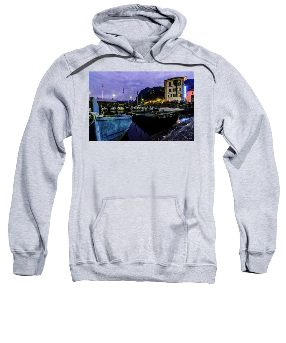 Boats In The Lake Sweatshirt featuring the photograph Boats Of The Lake by Christian Goransson