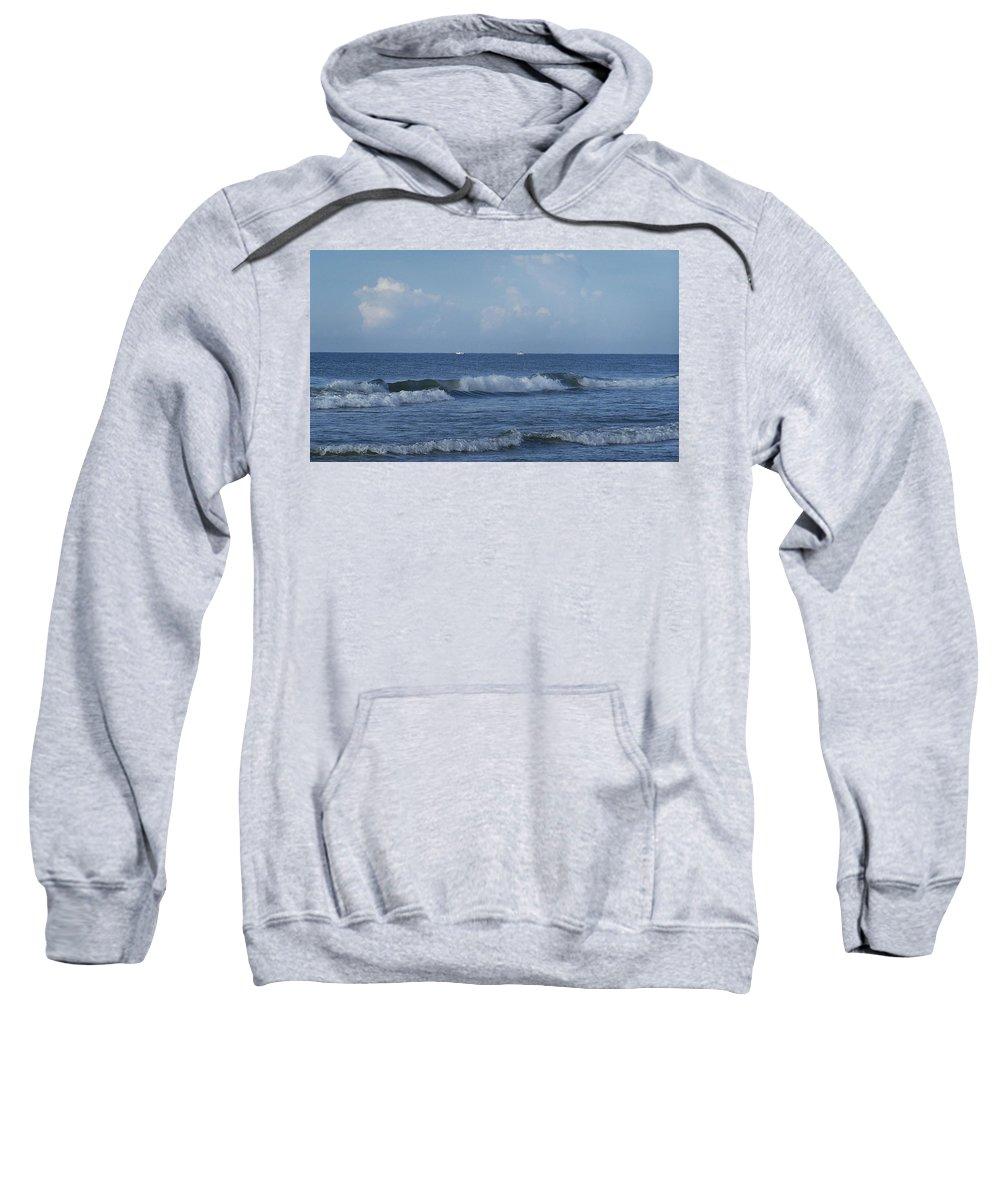 Ocean Sweatshirt featuring the photograph Boats On The Horizon by Teresa Mucha