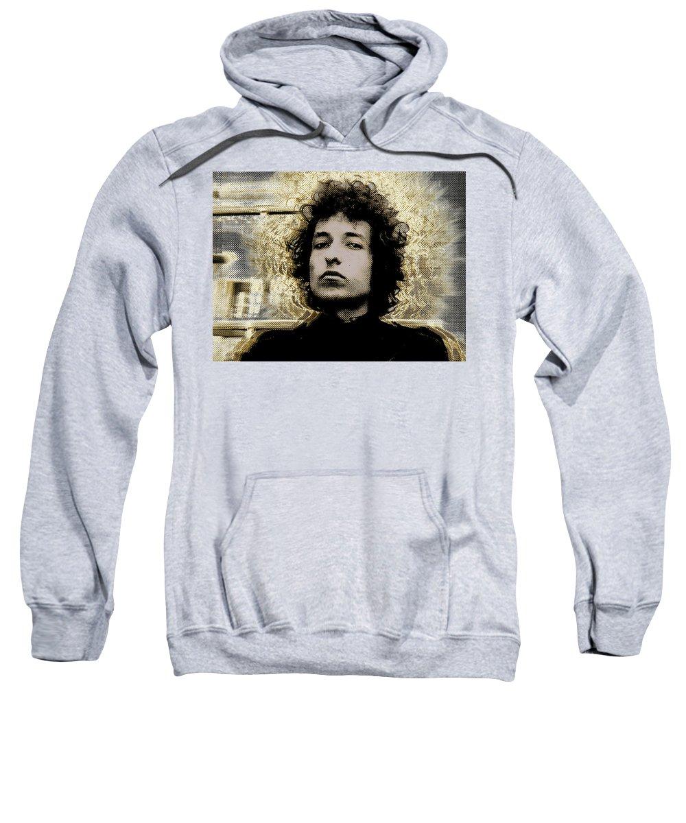 Bob Dylan Sweatshirt featuring the painting Bob Dylan 2 by Tony Rubino
