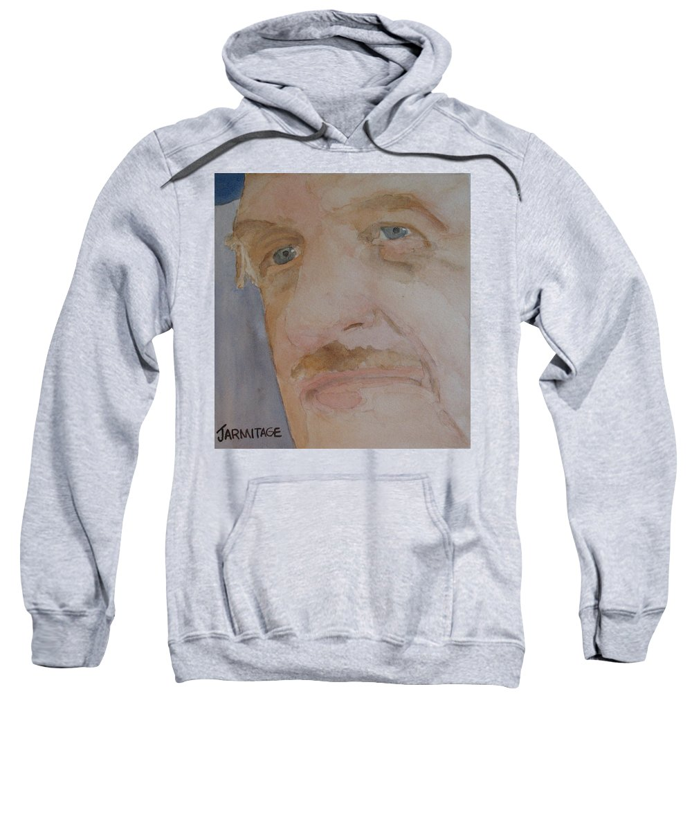 Portrait Sweatshirt featuring the painting Bob I by Jenny Armitage