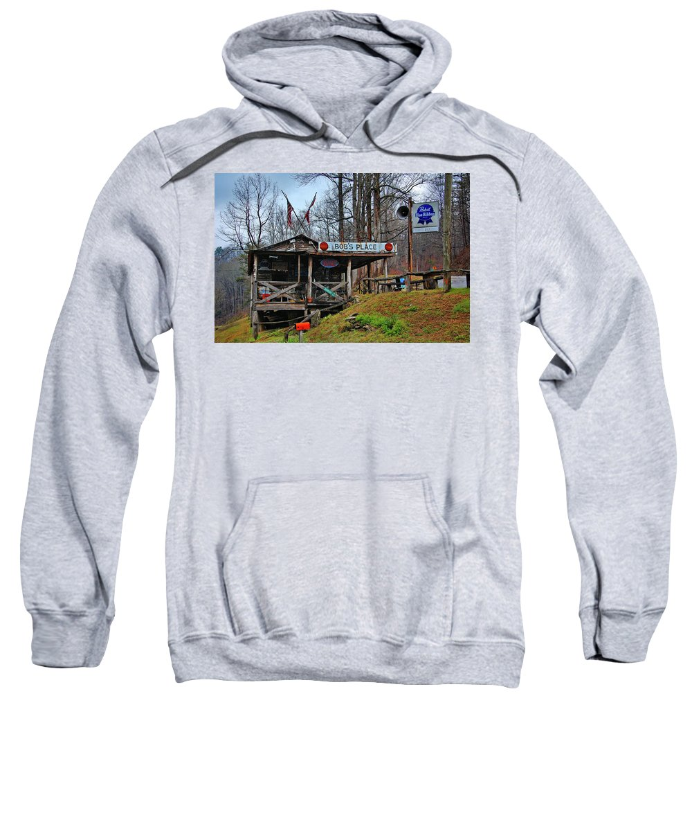 Bobs Place Sweatshirt featuring the photograph Bobs Place by Ben Prepelka