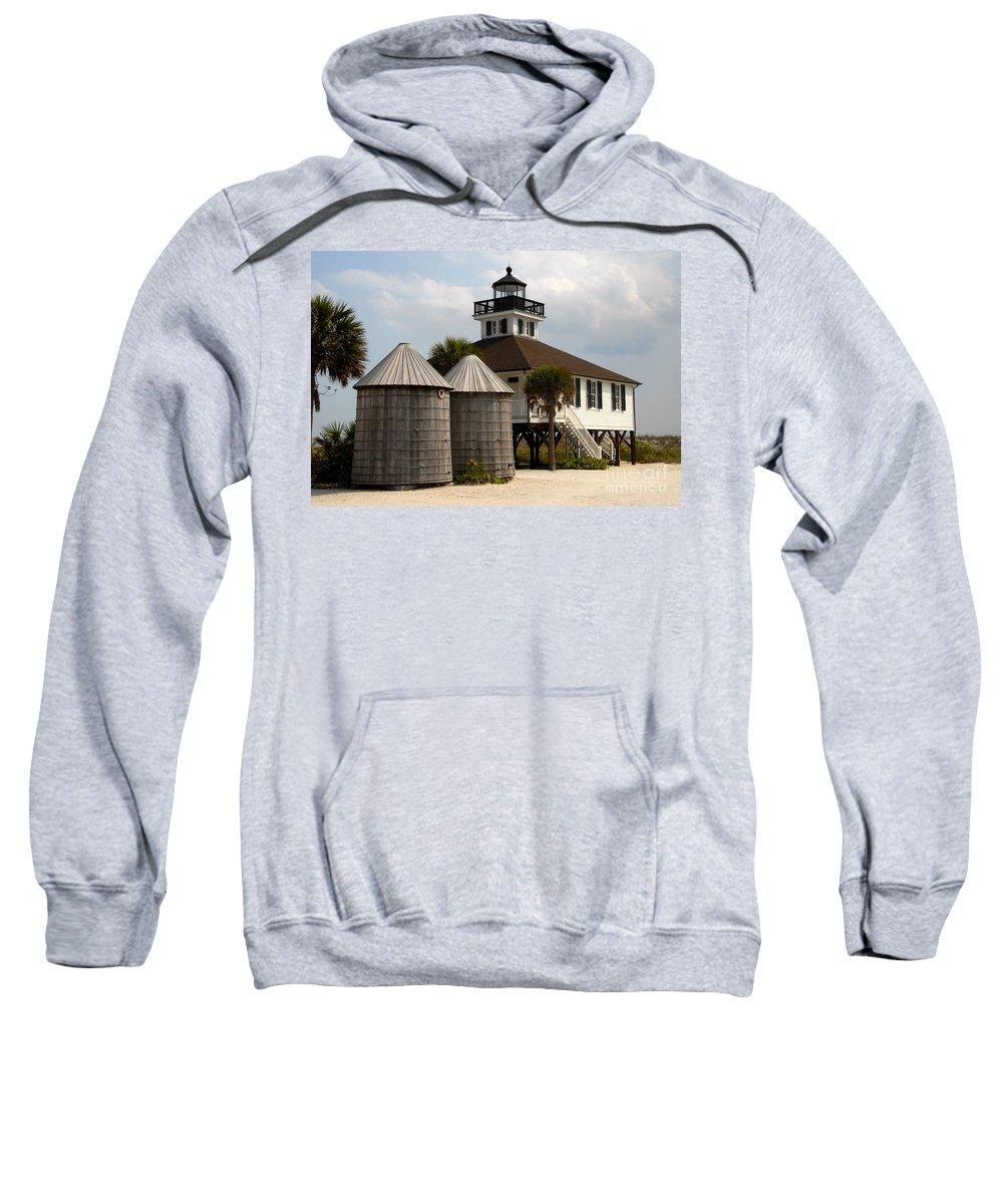 Port Boca Grande Sweatshirt featuring the photograph Boca Grande Lighthouse by David Lee Thompson
