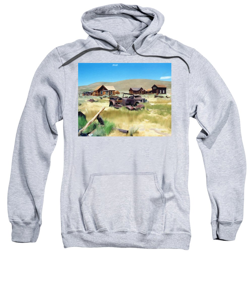 Bodie Sweatshirt featuring the photograph Bodie by Kurt Van Wagner