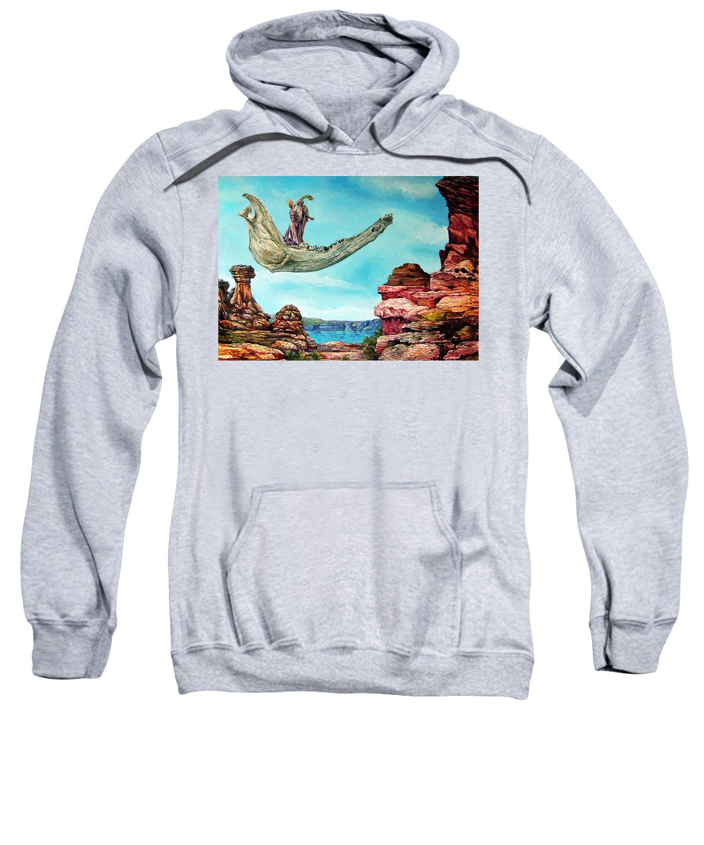 Painting Sweatshirt featuring the painting Bogomils Journey by Otto Rapp
