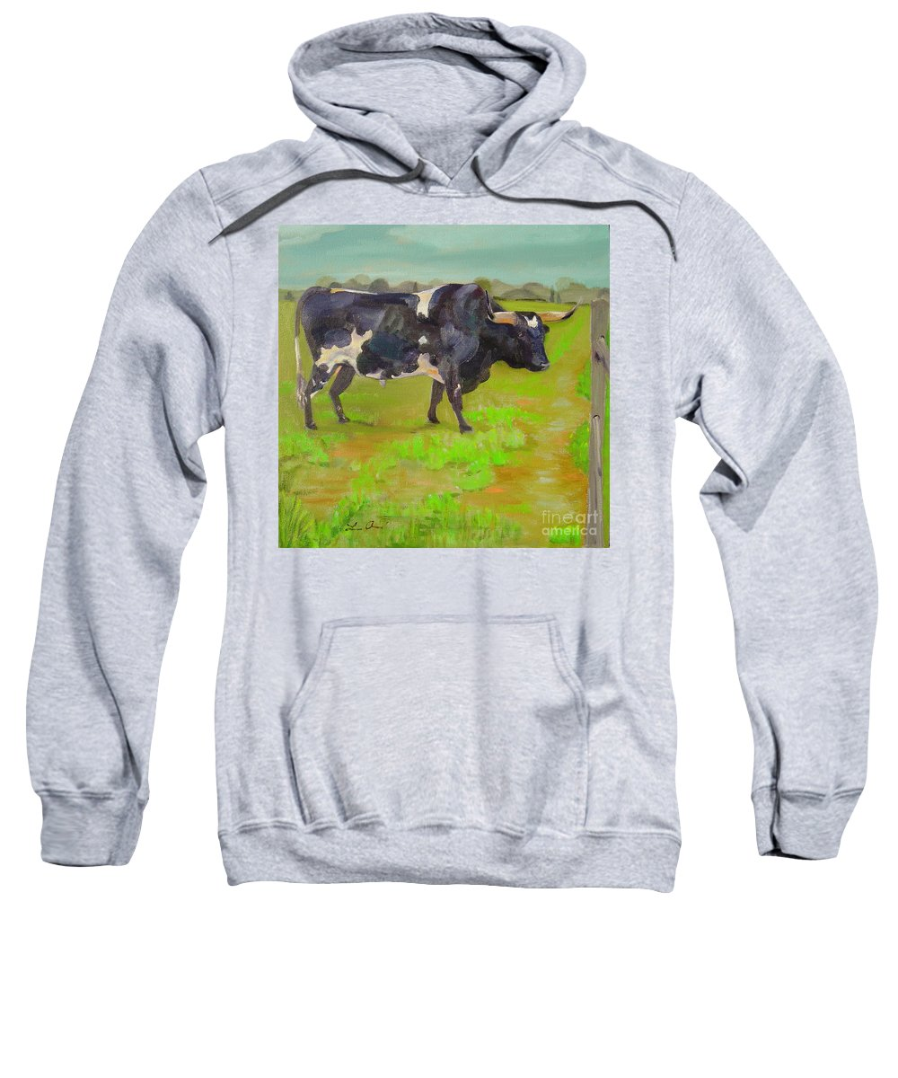 Southwest Sweatshirt featuring the painting Bold Beauty by Lilibeth Andre