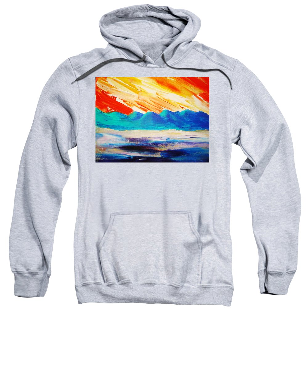Bright Sweatshirt featuring the painting Bold Day by Melinda Etzold