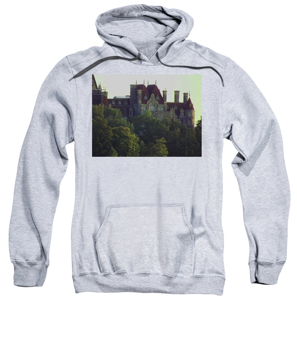 Summer Sweatshirt featuring the photograph Boldt Castle 22 by Joseph F Safin