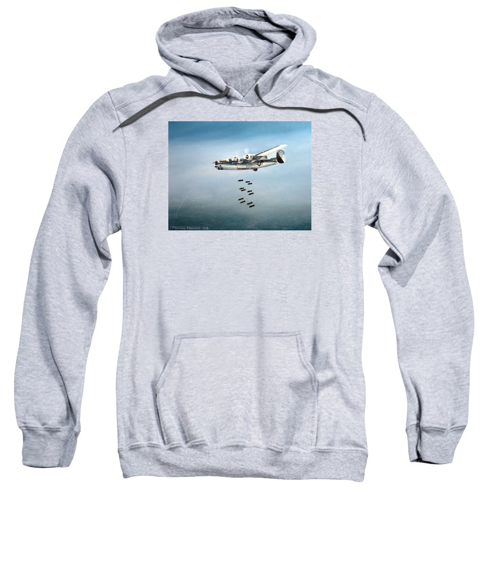 Aviation Sweatshirt featuring the painting Bombs Away by Marc Stewart