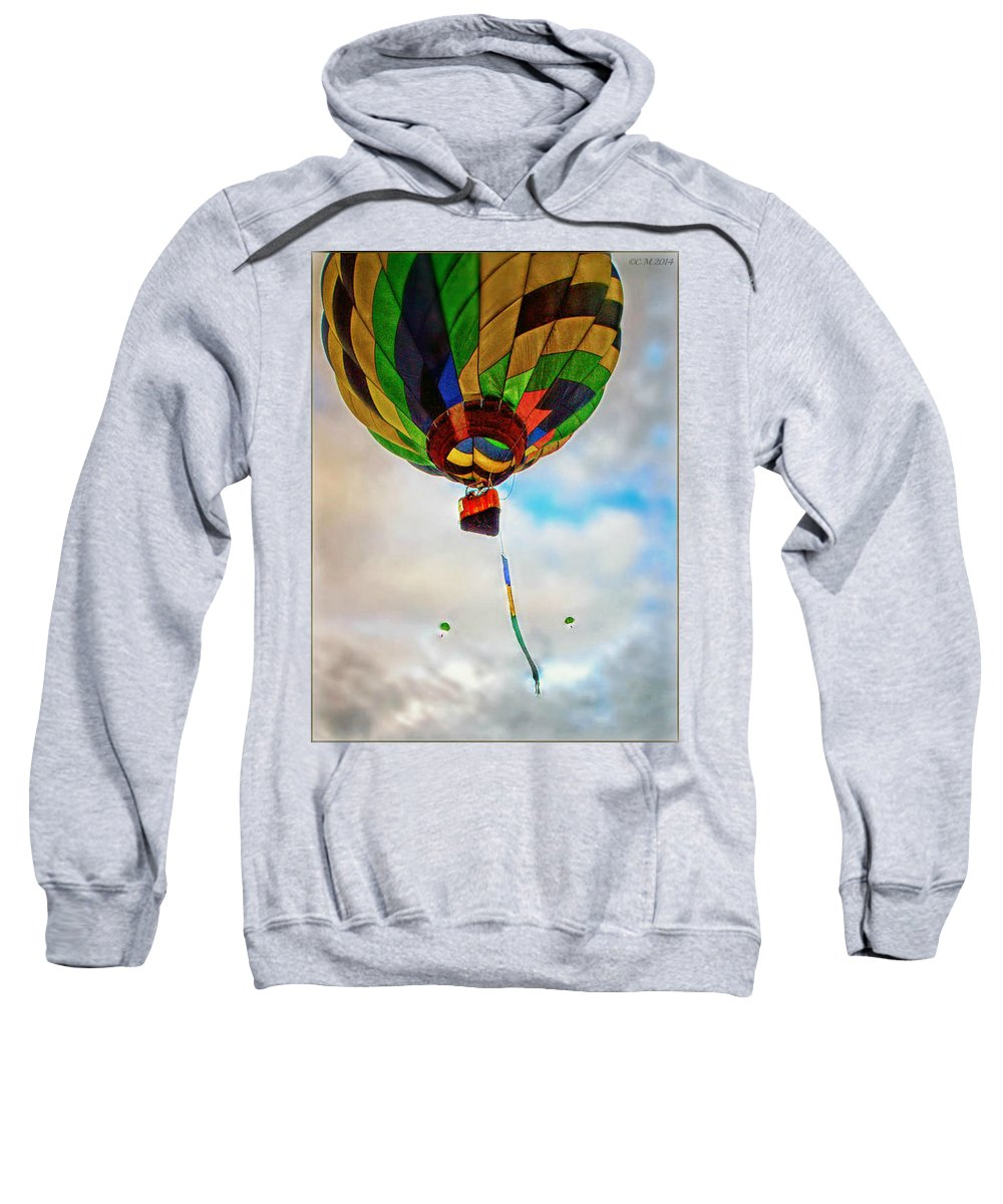 Hot Air Balloon Sweatshirt featuring the photograph Bon Voyage by Catherine Melvin