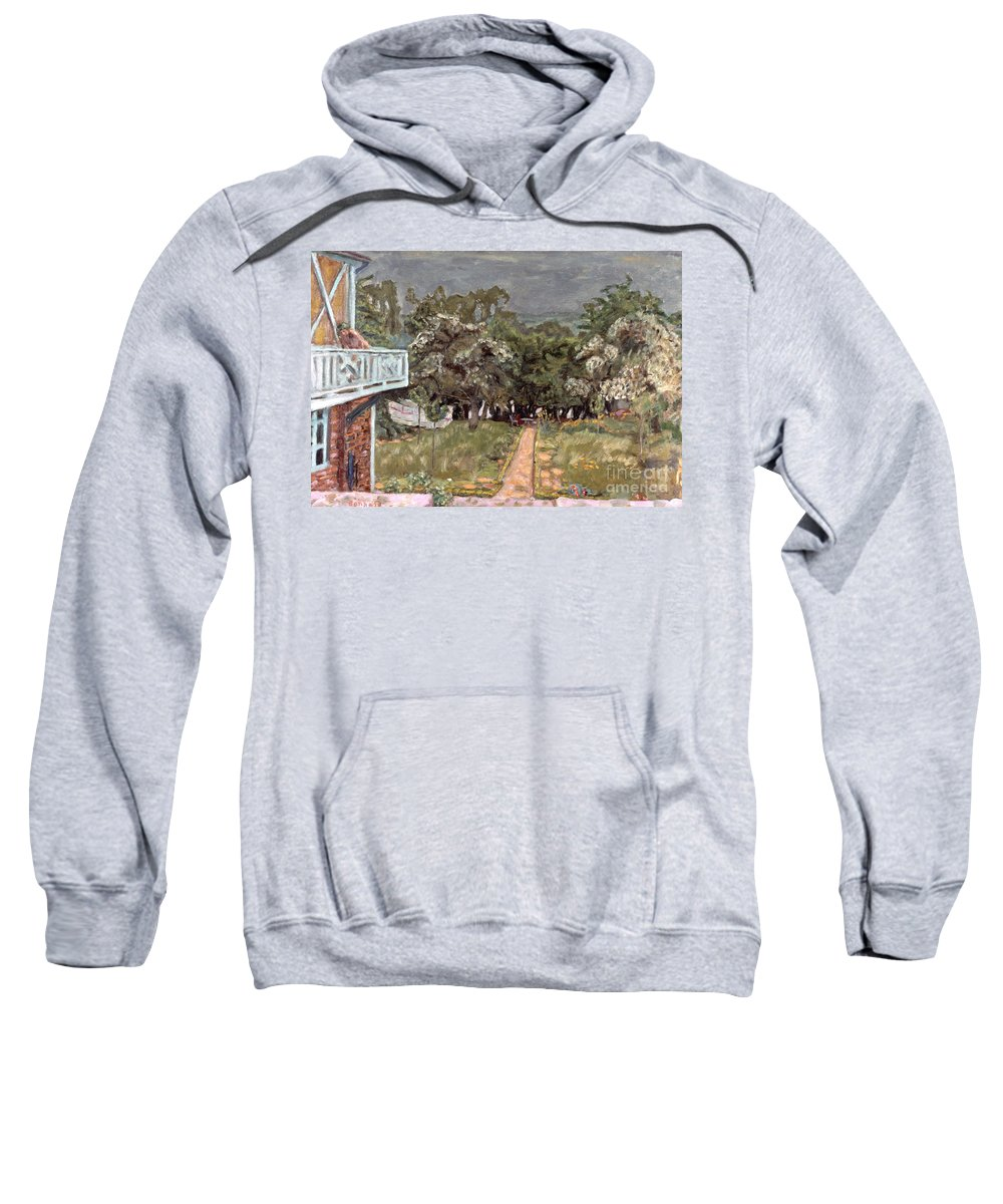 1910 Sweatshirt featuring the photograph Bonnard: Balcony, 1909-10 by Granger