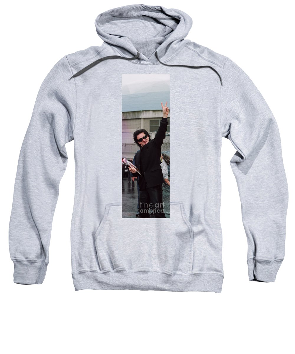 Peace Sweatshirt featuring the photograph Bono by David J Warrington