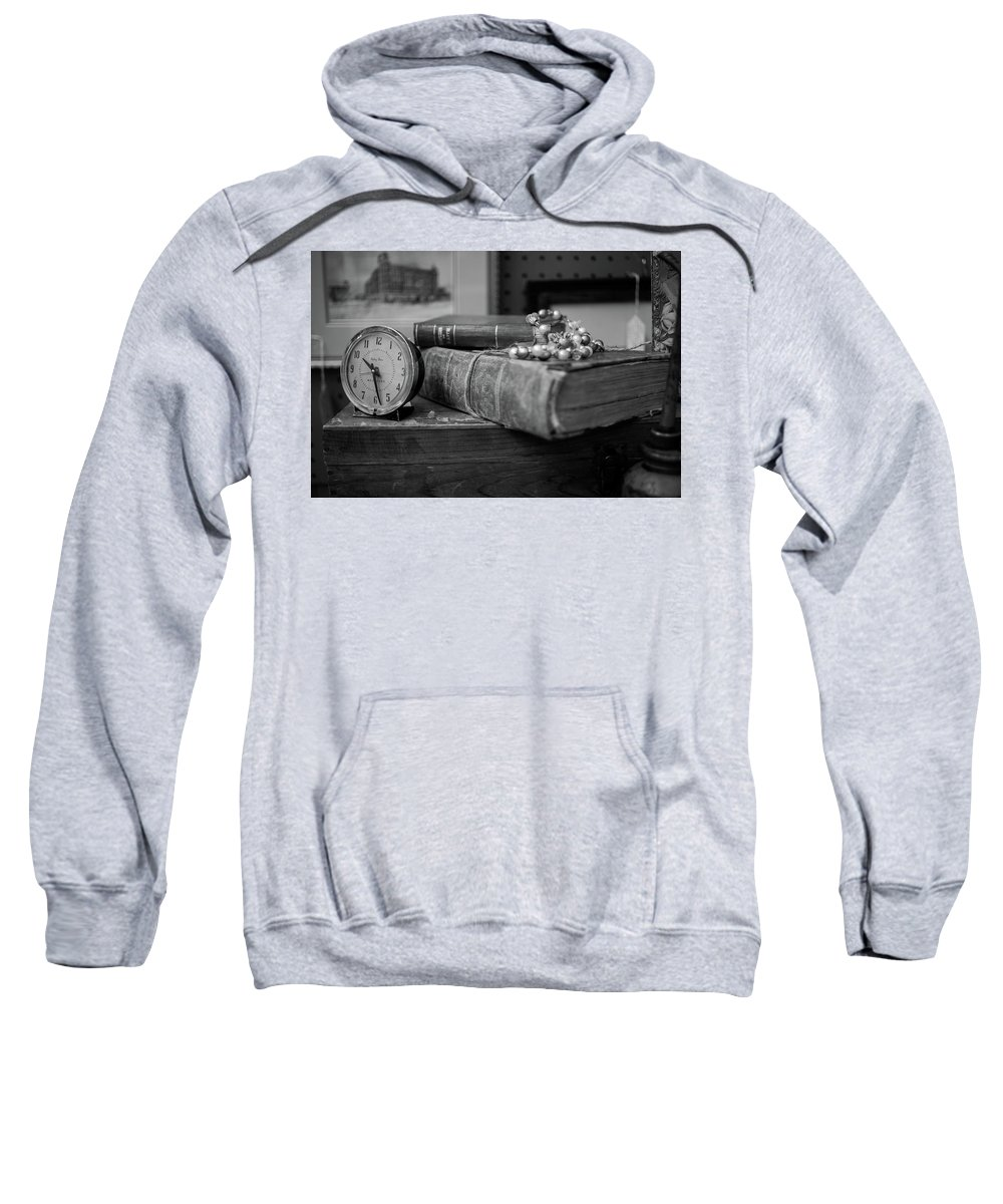 Book Clock Sweatshirt featuring the photograph Book by Gary Brown