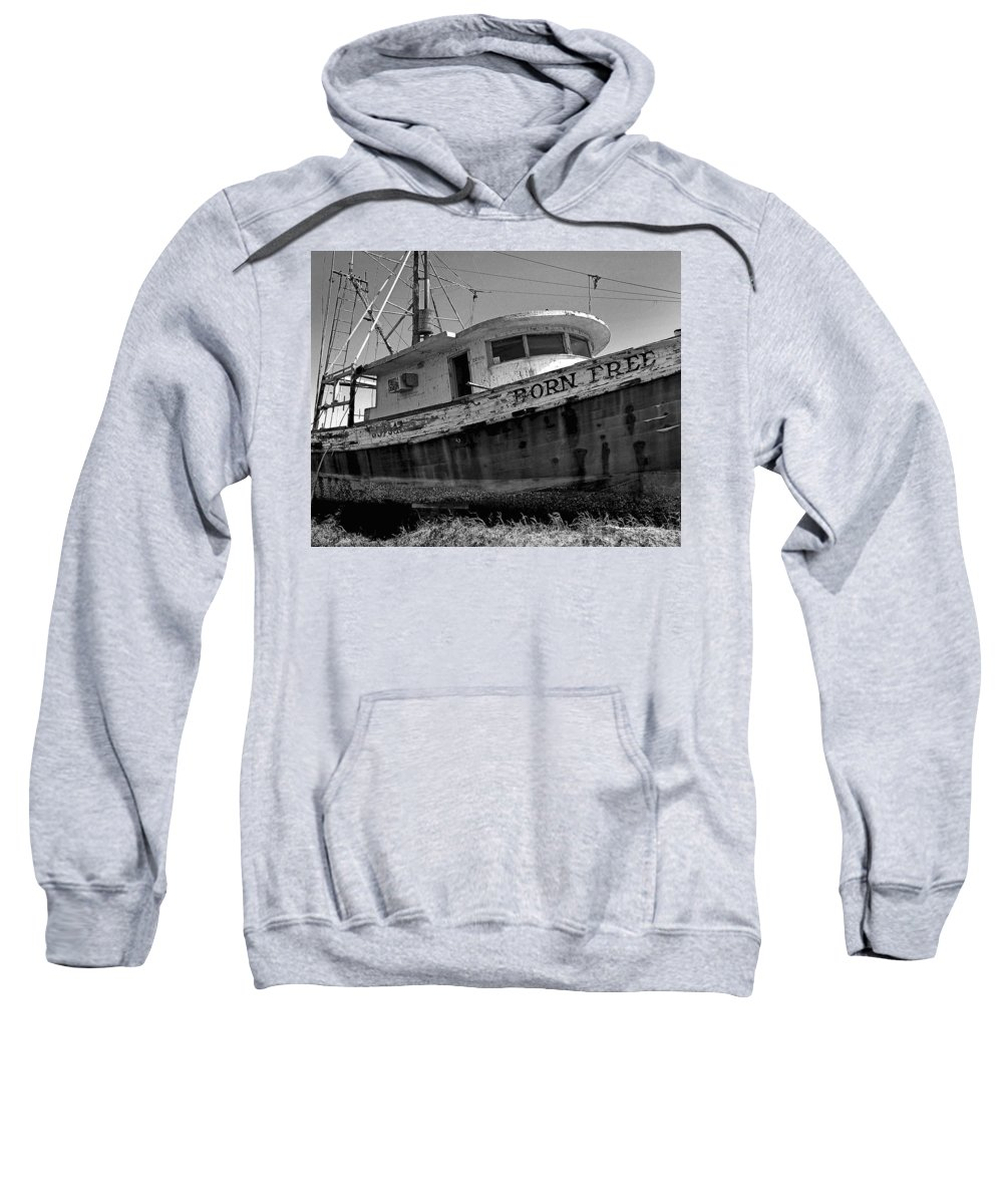 Shrimp Boat Sweatshirt featuring the painting Born Free by Michael Thomas