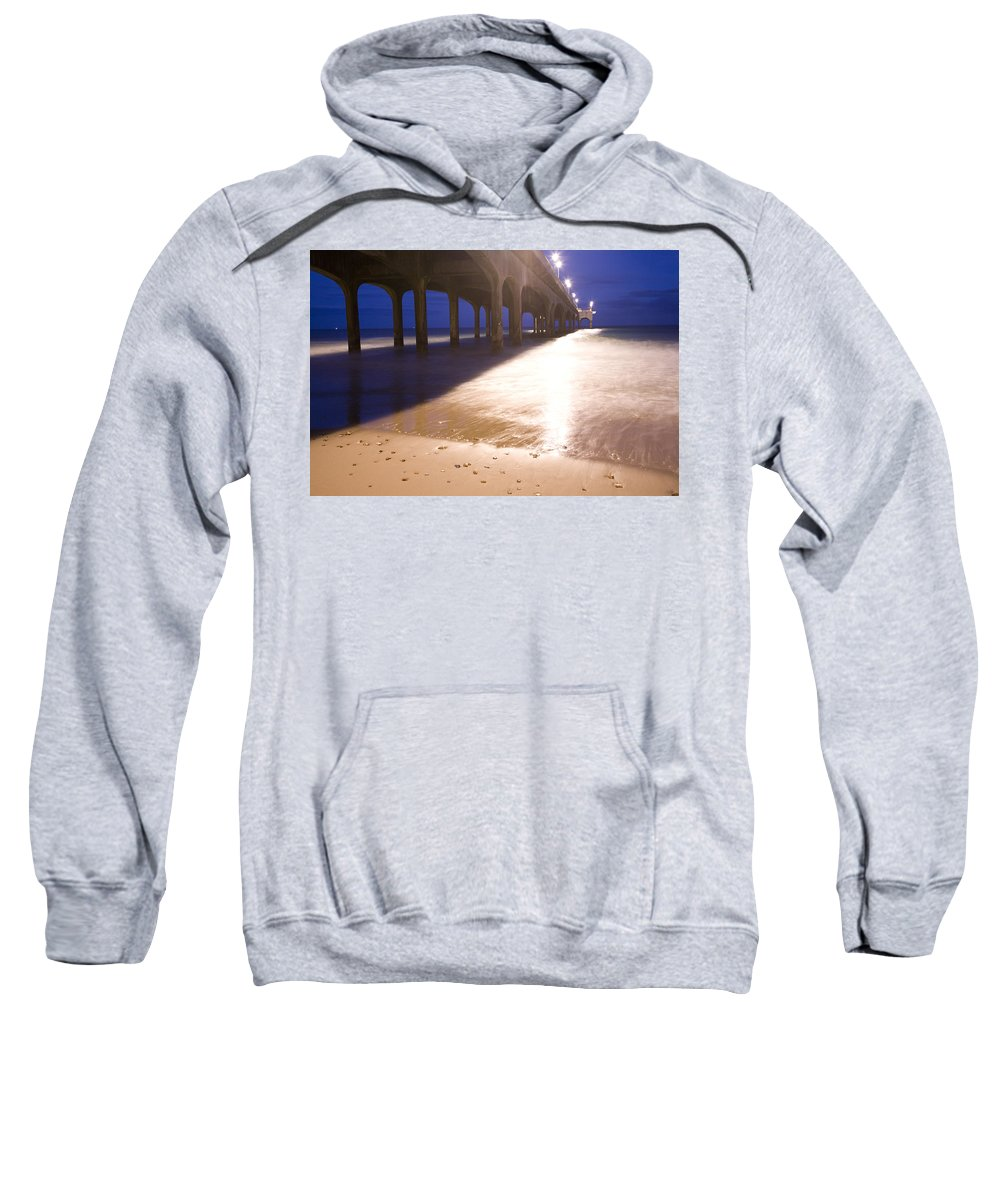 Boscombe Sweatshirt featuring the photograph Boscombe Pier by Ian Middleton