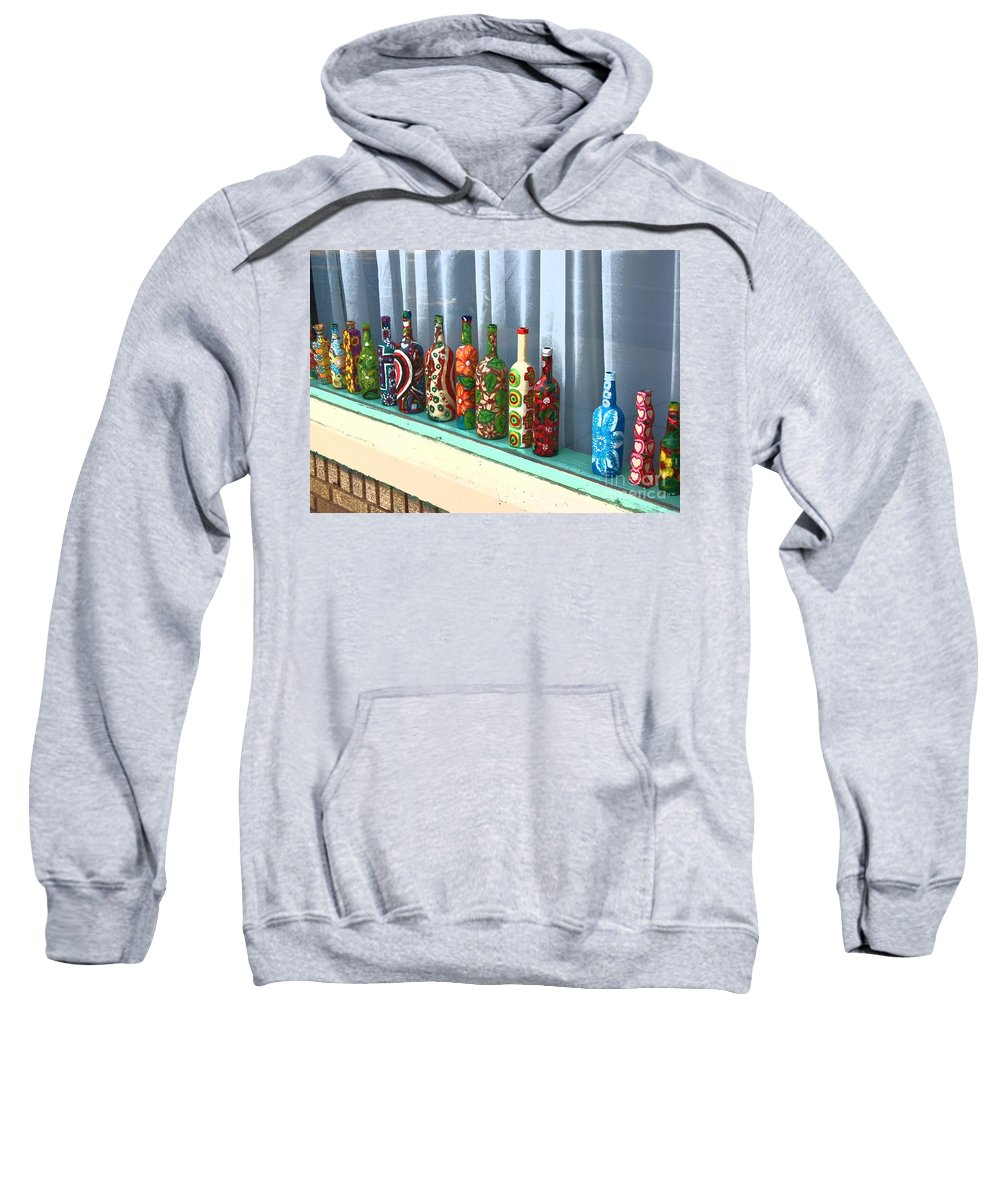 Bottles Sweatshirt featuring the photograph Bottled Up by Debbi Granruth